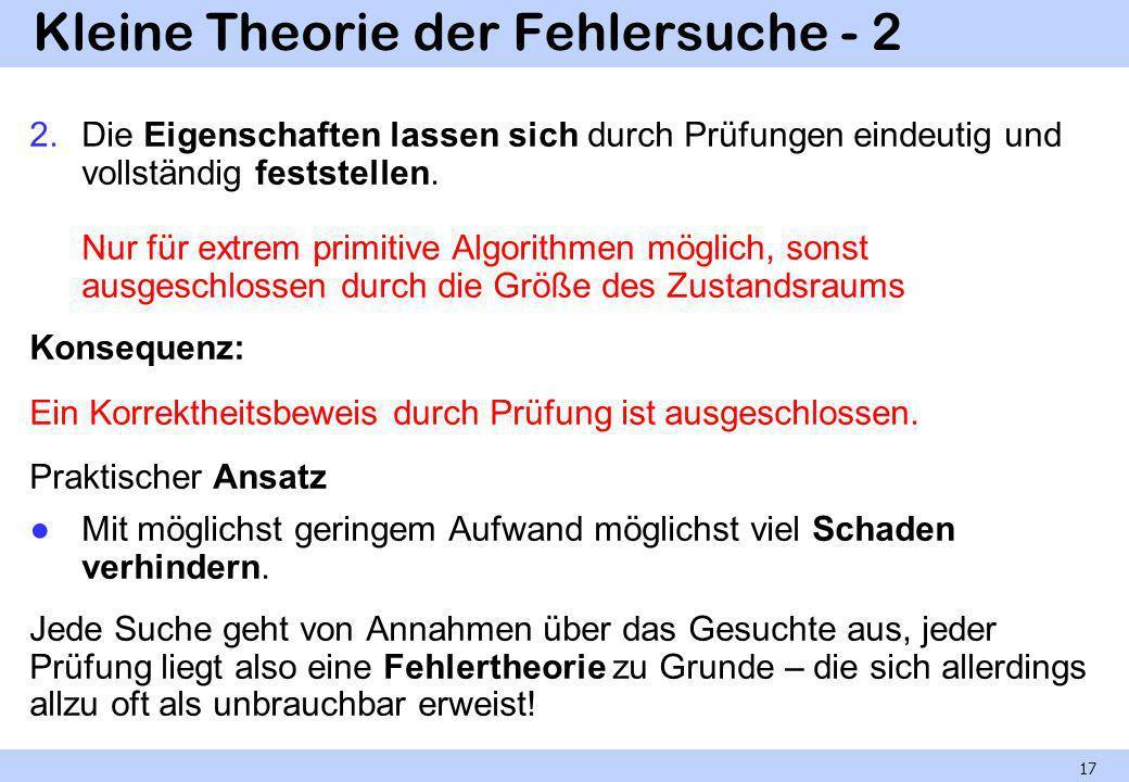 Kleine Theorie der Fehlersuche - 2