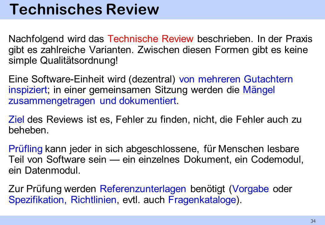 Technisches Review