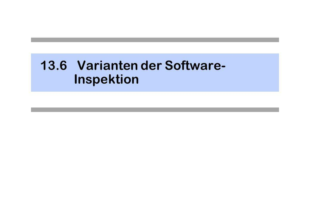 13.6 Varianten der Software-Inspektion
