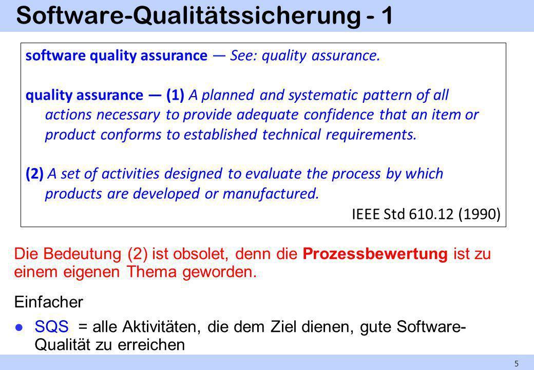 Software-Qualitätssicherung - 1