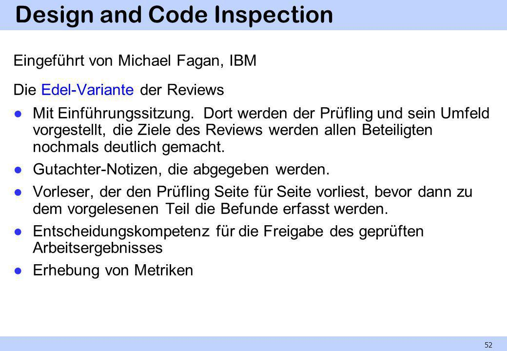 Design and Code Inspection