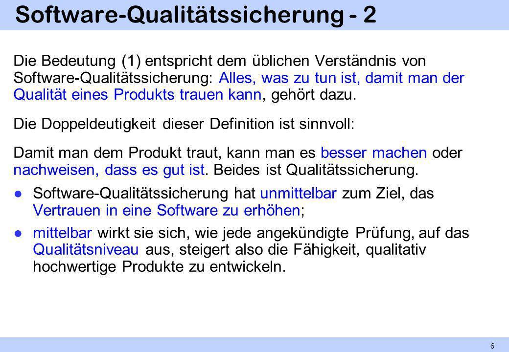 Software-Qualitätssicherung - 2