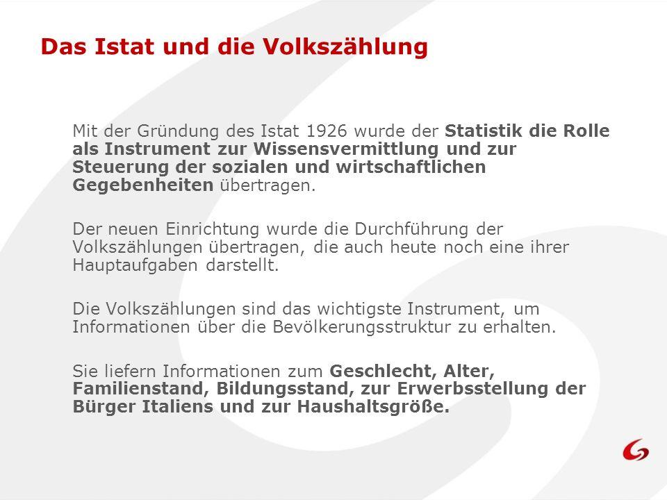 Das Istat und die Volkszählung