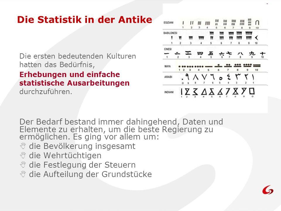 Die Statistik in der Antike