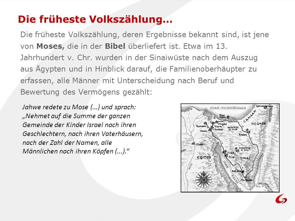 Die früheste Volkszählung…
