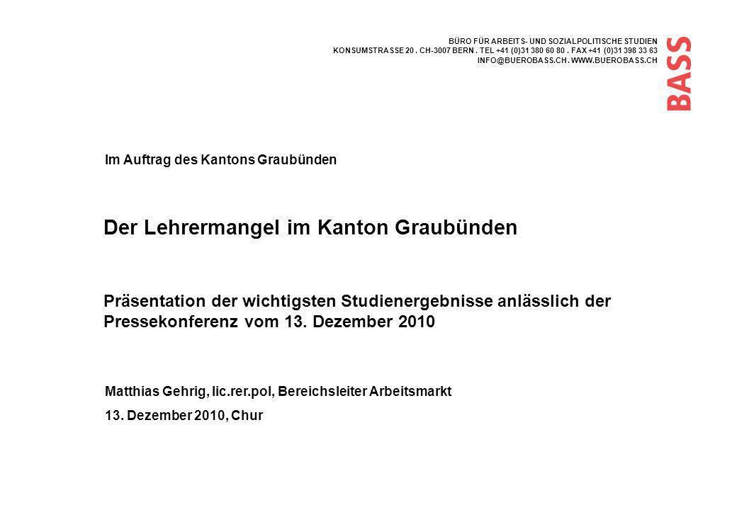 Der Lehrermangel im Kanton Graubünden
