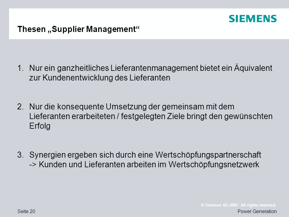 "Thesen ""Supplier Management"