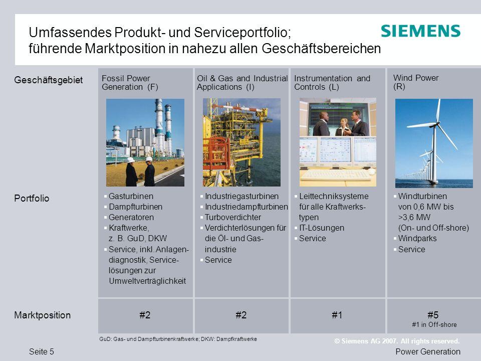 Umfassendes Produkt- und Serviceportfolio; führende Marktposition in nahezu allen Geschäftsbereichen