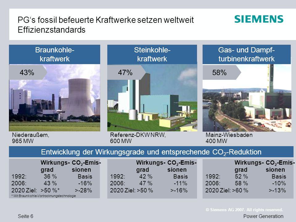 PG's fossil befeuerte Kraftwerke setzen weltweit Effizienzstandards