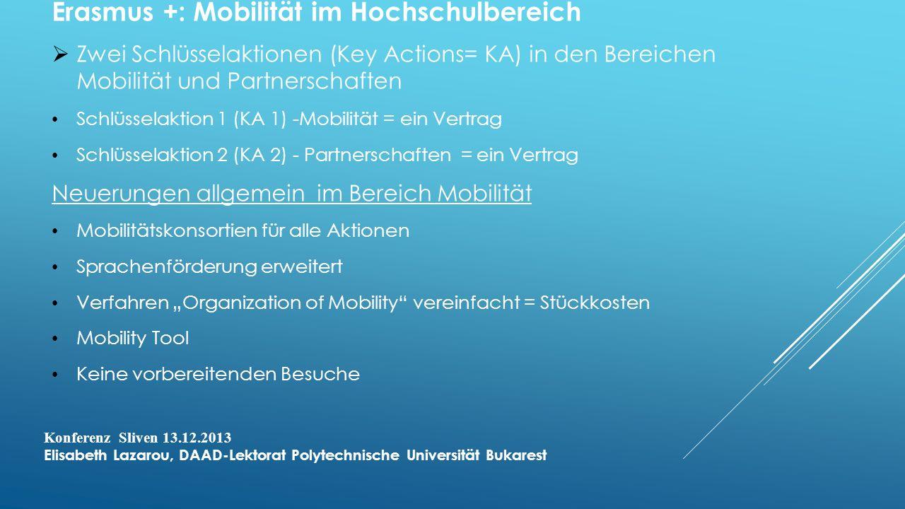 Erasmus +: Mobilität im Hochschulbereich