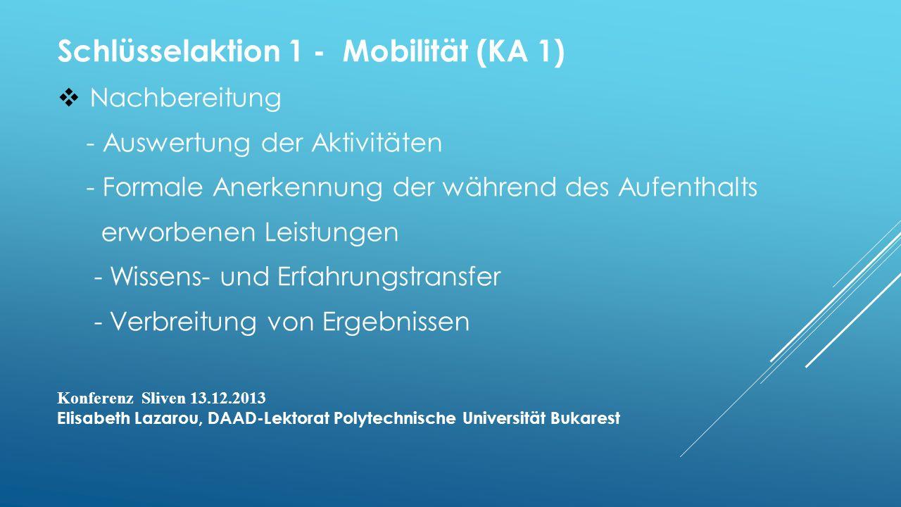 Schlüsselaktion 1 - Mobilität (KA 1)