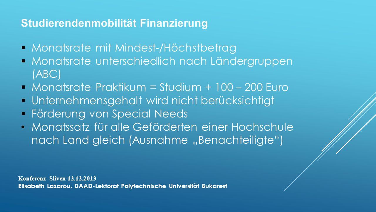 Studierendenmobilität Finanzierung