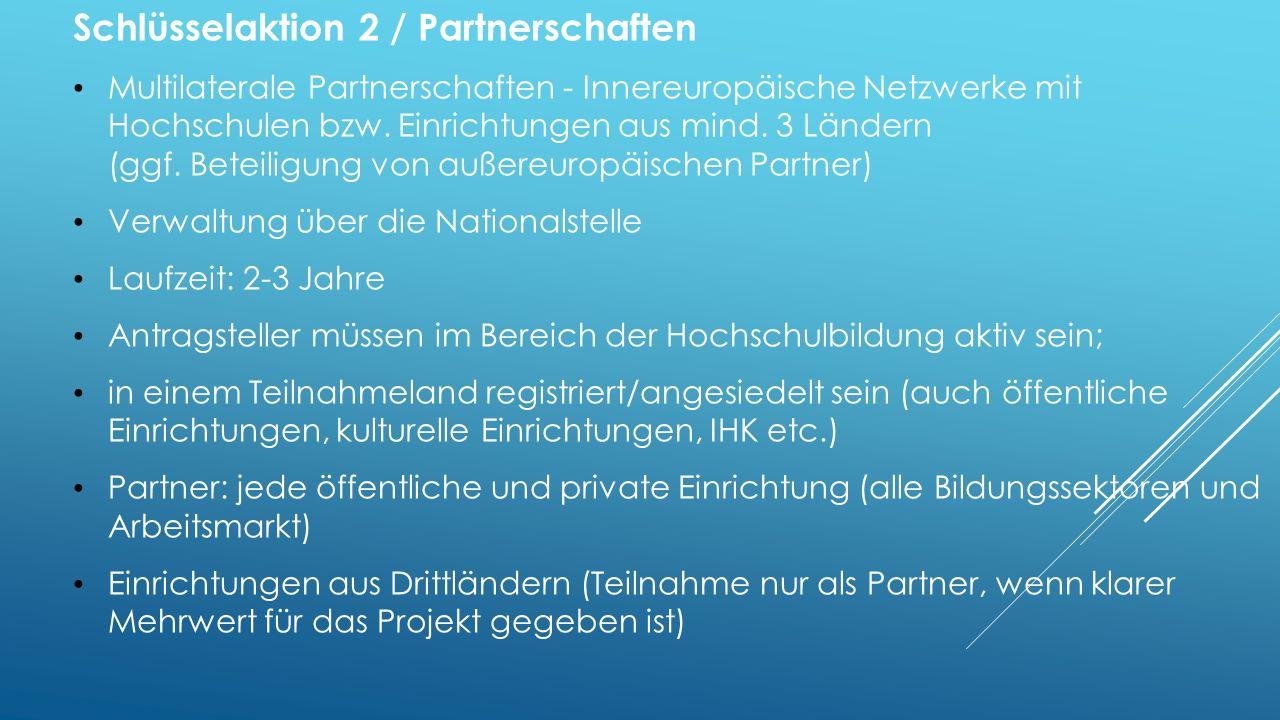 Schlüsselaktion 2 / Partnerschaften