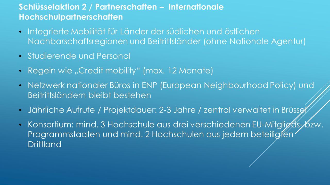 Schlüsselaktion 2 / Partnerschaften – Internationale Hochschulpartnerschaften