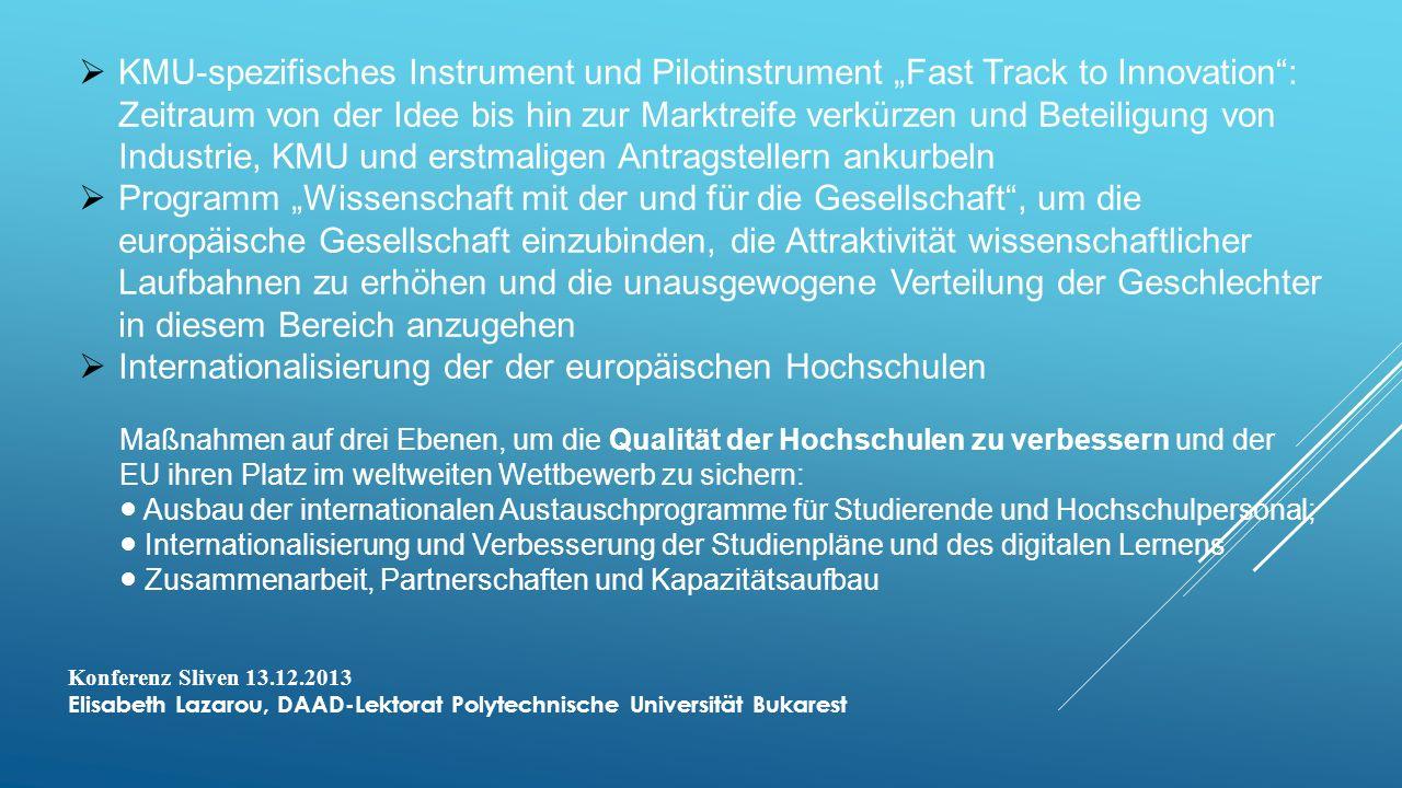 Internationalisierung der der europäischen Hochschulen