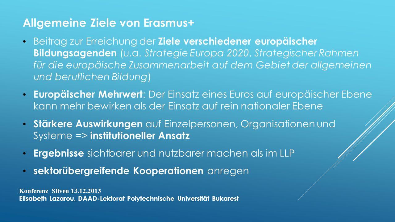 Allgemeine Ziele von Erasmus+