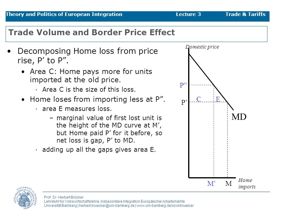 Trade Volume and Border Price Effect