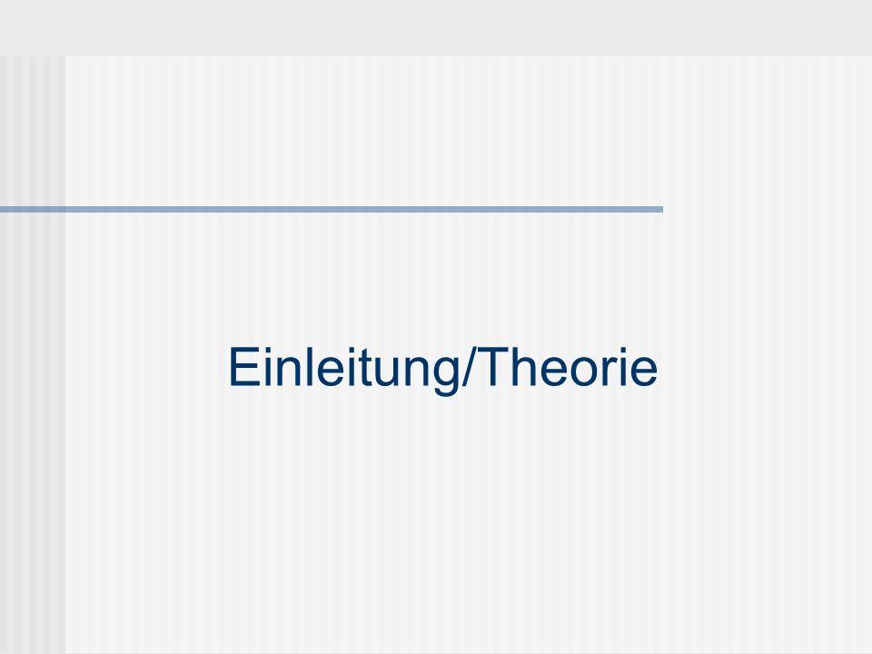 Einleitung/Theorie
