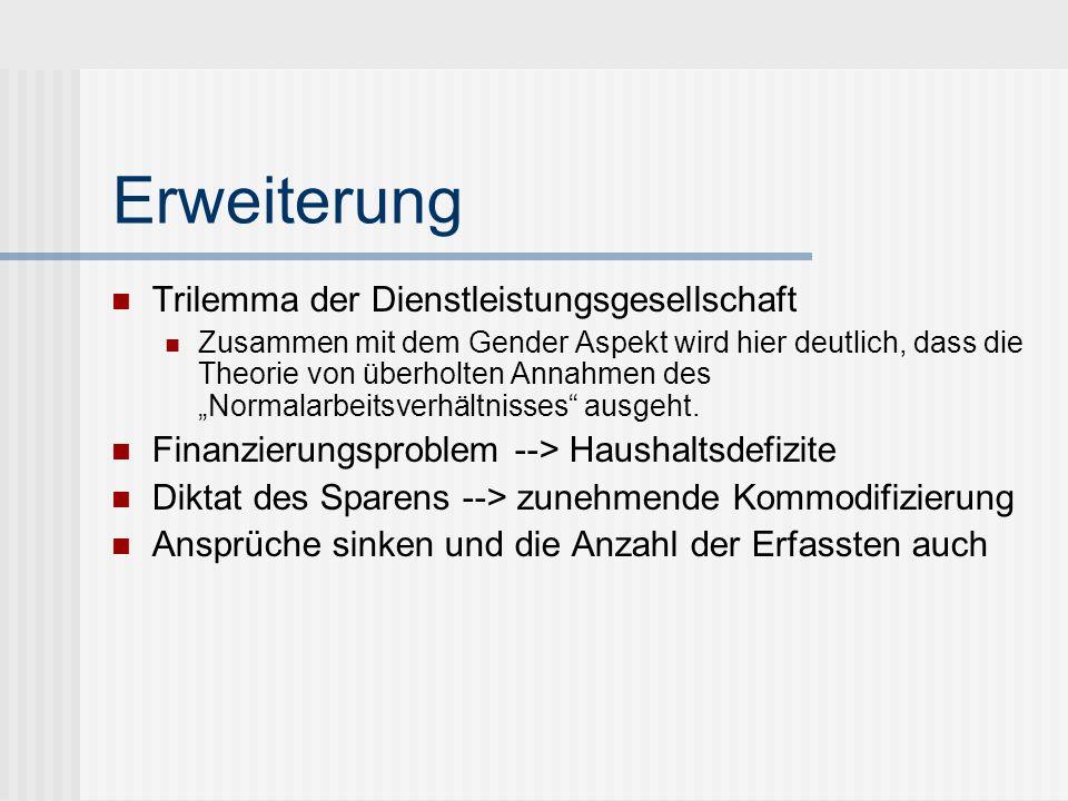 Erweiterung Trilemma der Dienstleistungsgesellschaft