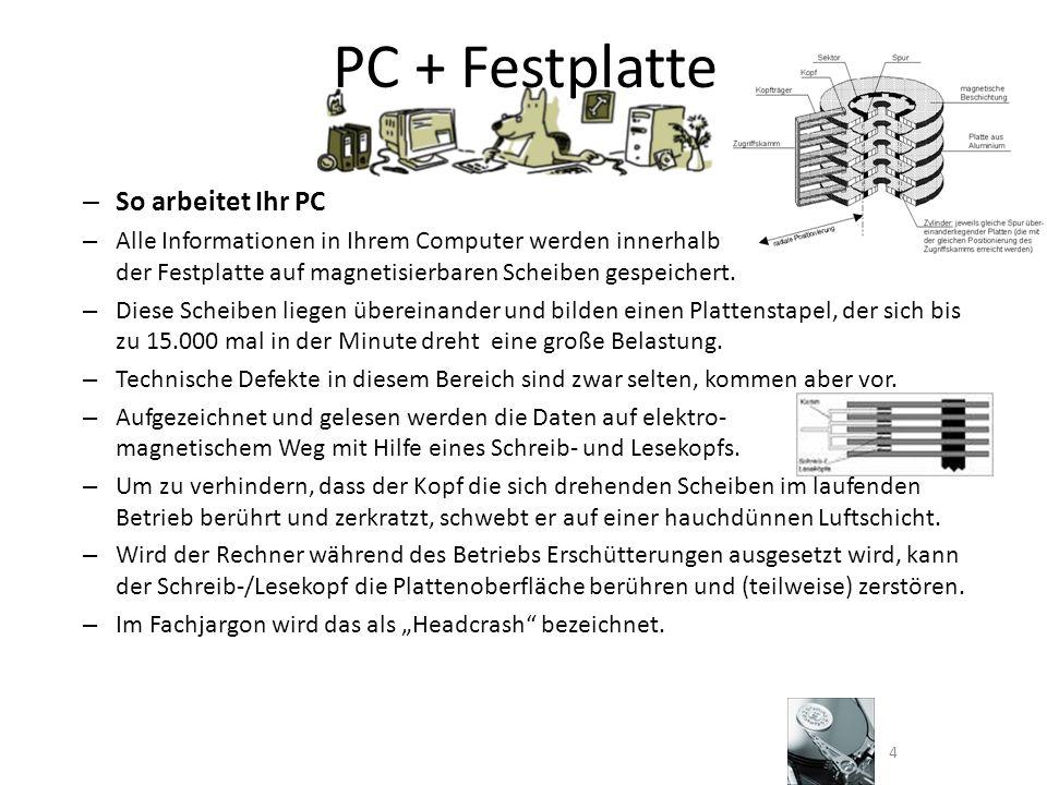 PC + Festplatte So arbeitet Ihr PC