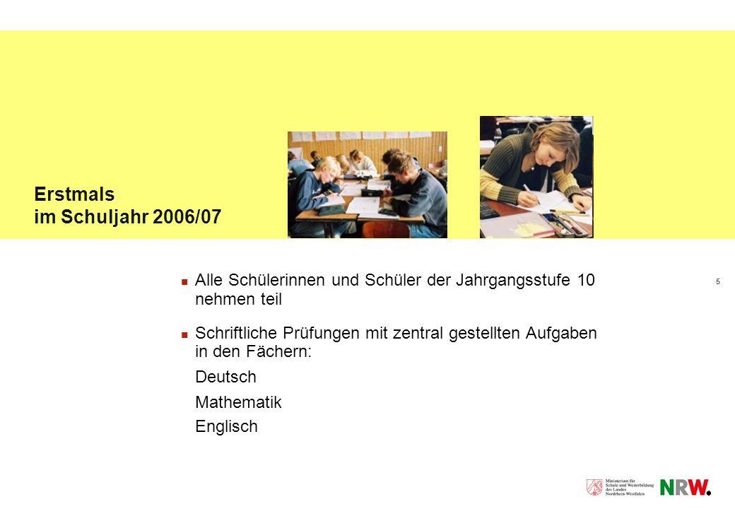 Erstmals im Schuljahr 2006/07