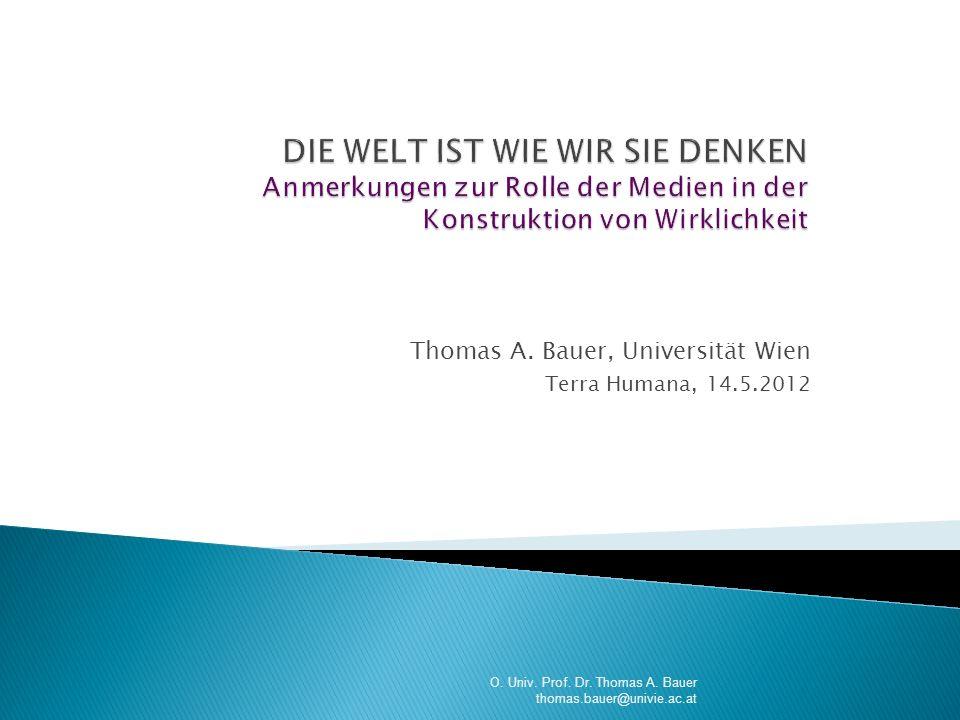 Thomas A. Bauer, Universität Wien Terra Humana, 14.5.2012