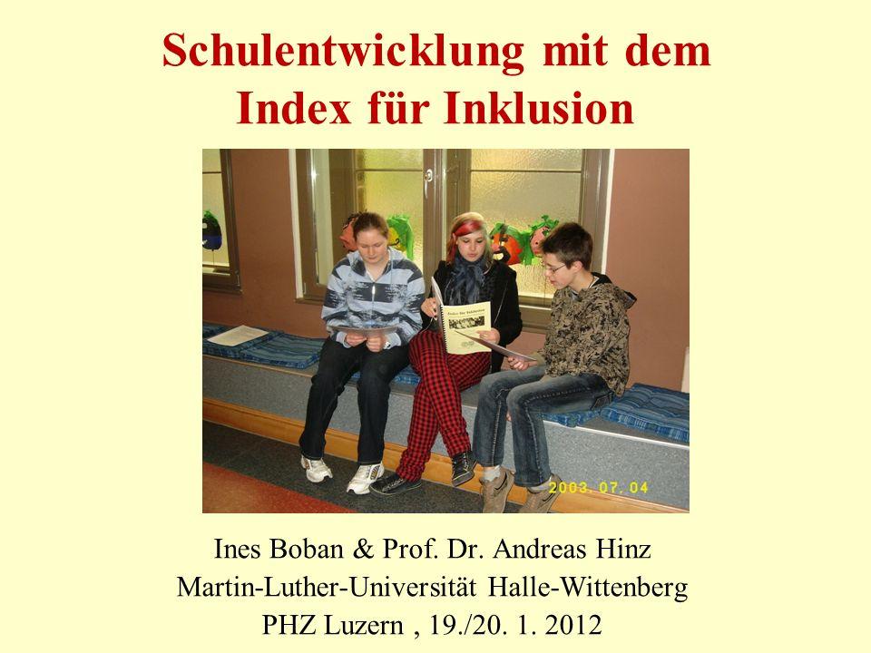 Schulentwicklung mit dem Index für Inklusion