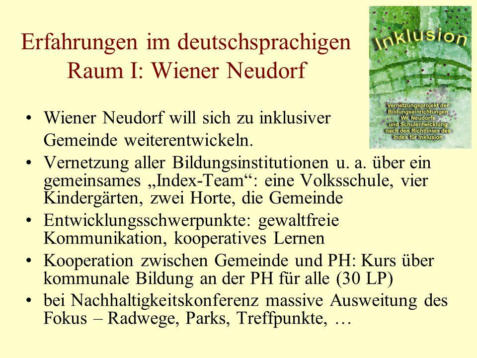 Erfahrungen im deutschsprachigen Raum I: Wiener Neudorf