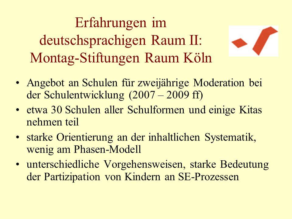 Erfahrungen im deutschsprachigen Raum II: Montag-Stiftungen Raum Köln