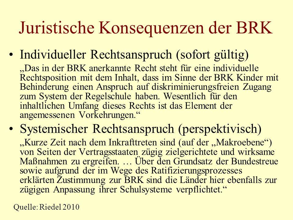 Juristische Konsequenzen der BRK