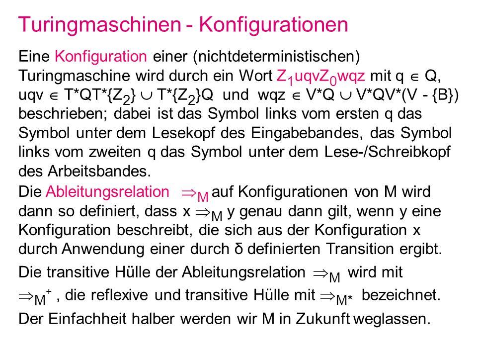 Turingmaschinen - Konfigurationen