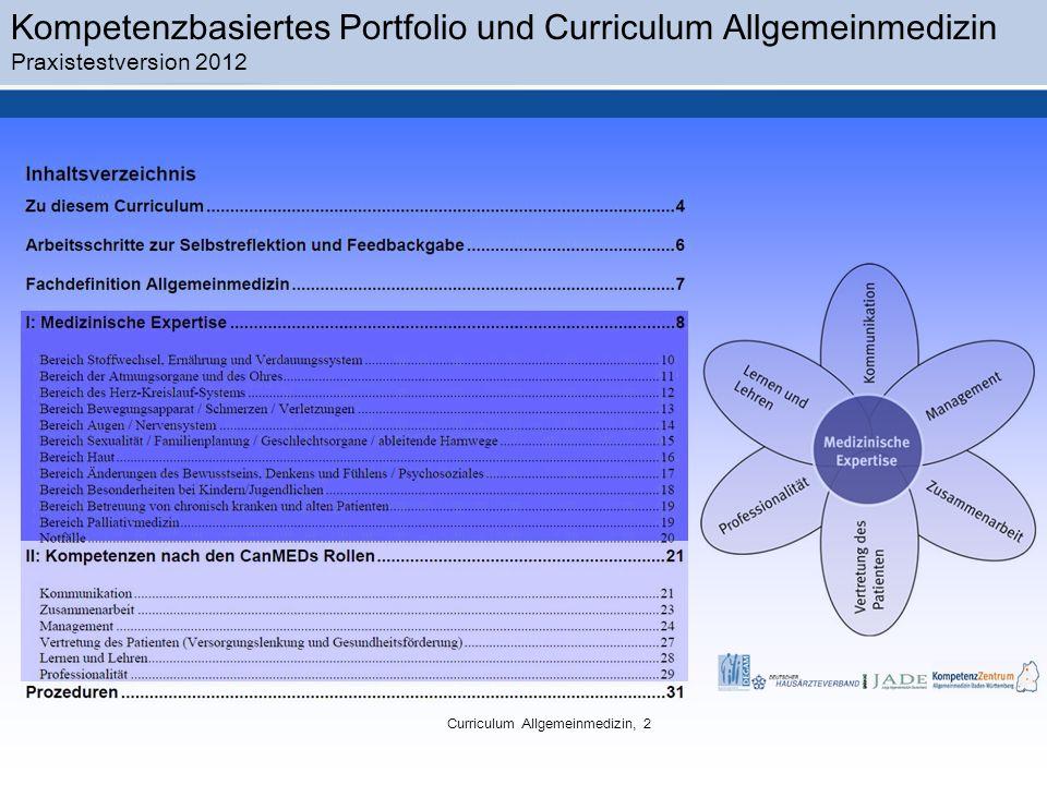 Curriculum Allgemeinmedizin, 2