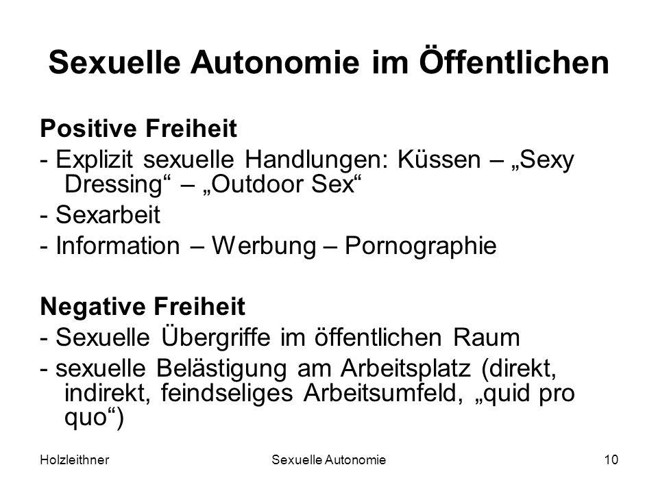 Sexuelle Autonomie im Öffentlichen