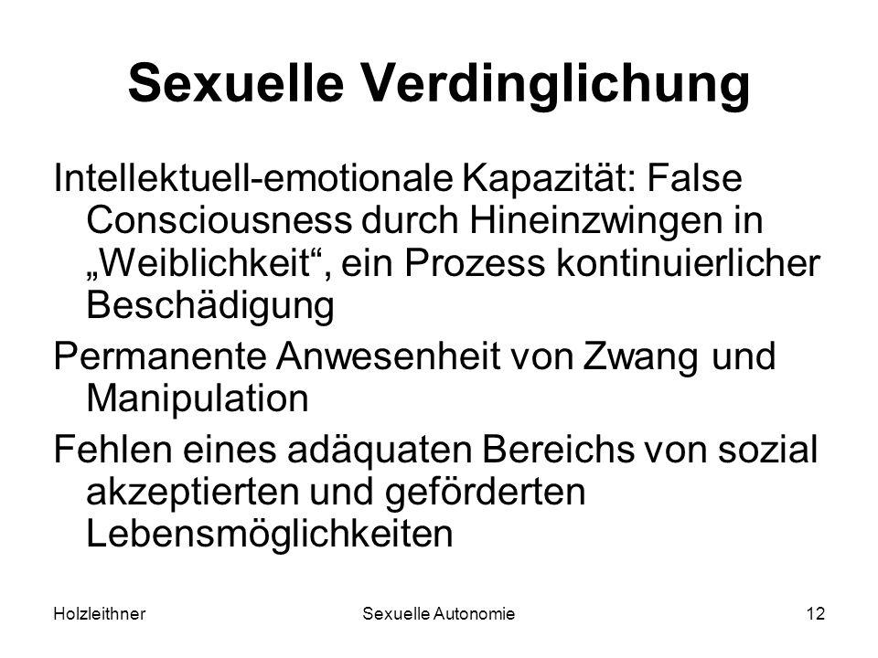 Sexuelle Verdinglichung