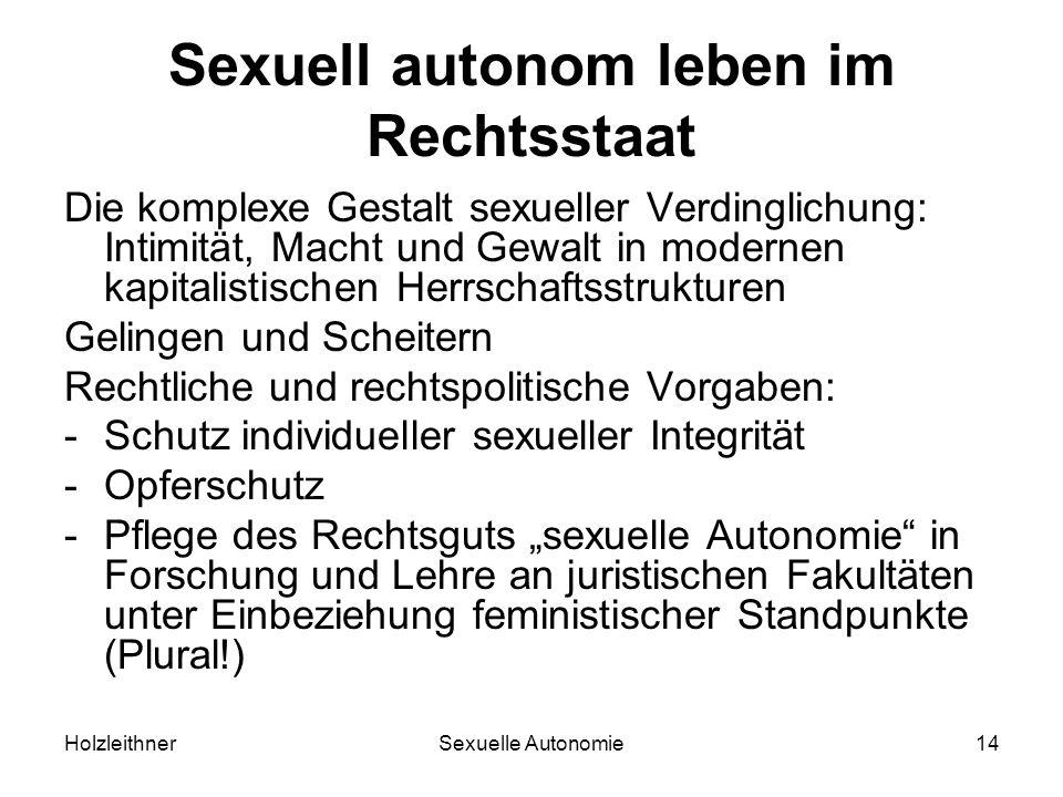 Sexuell autonom leben im Rechtsstaat