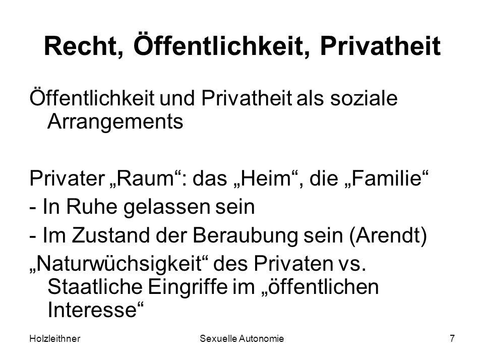 Recht, Öffentlichkeit, Privatheit