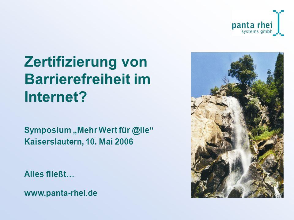 Zertifizierung von Barrierefreiheit im Internet