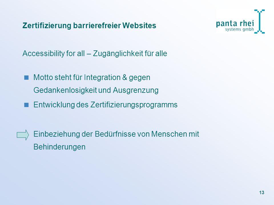 Zertifizierung barrierefreier Websites