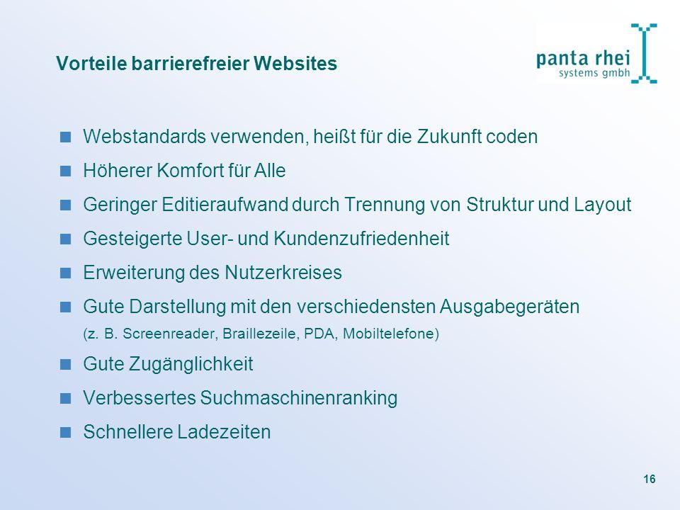 Vorteile barrierefreier Websites