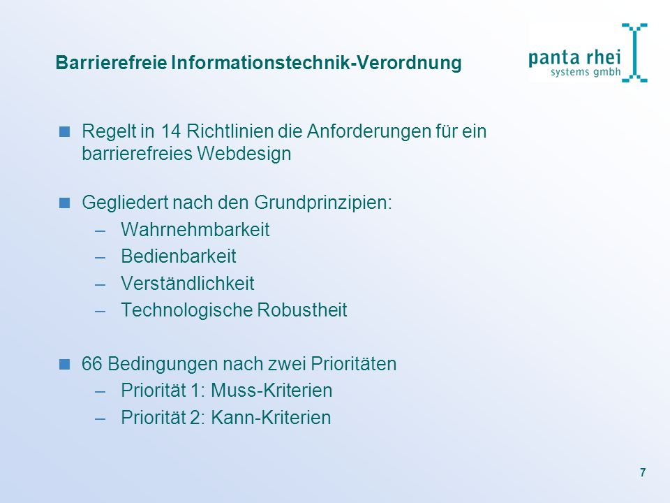 Barrierefreie Informationstechnik-Verordnung