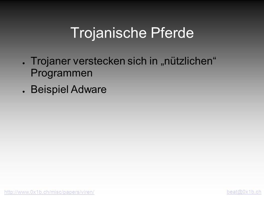 """Trojanische Pferde Trojaner verstecken sich in """"nützlichen Programmen"""