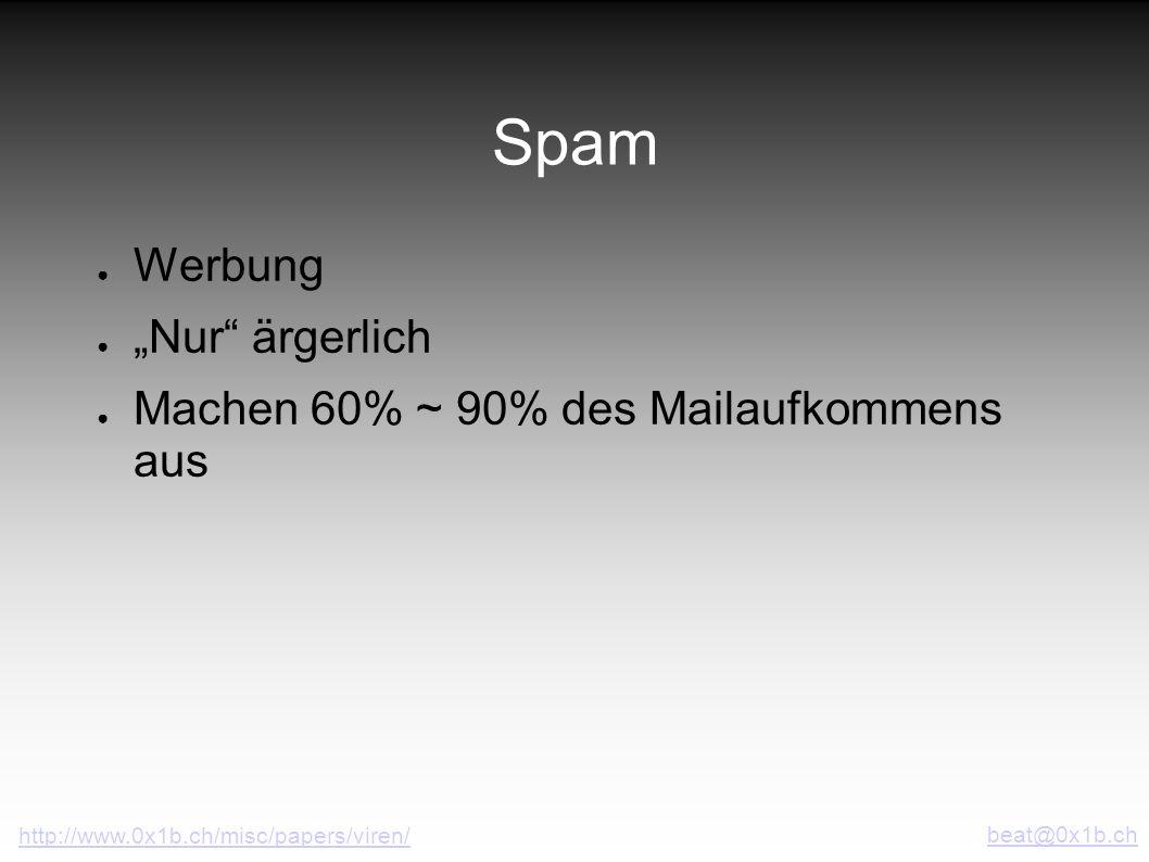 """Spam Werbung """"Nur ärgerlich Machen 60% ~ 90% des Mailaufkommens aus"""