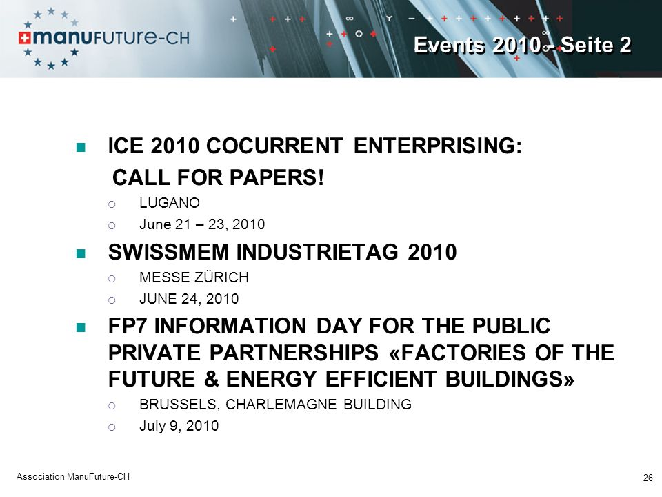 ICE 2010 COCURRENT ENTERPRISING: CALL FOR PAPERS!