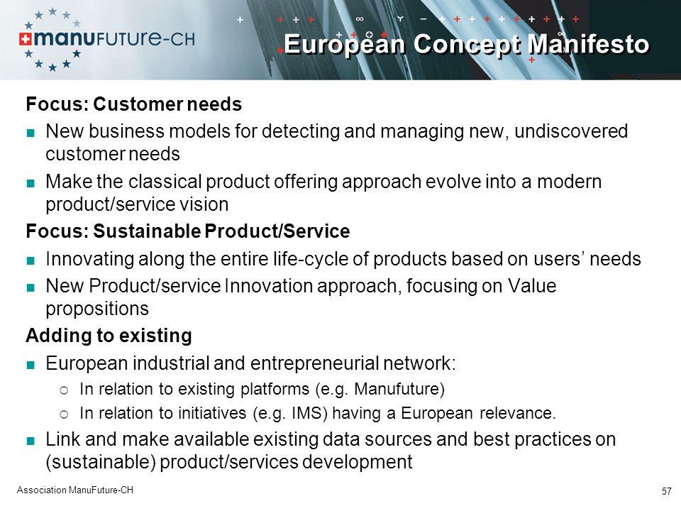 European Concept Manifesto