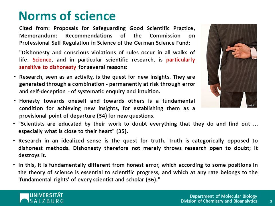 Norms of science