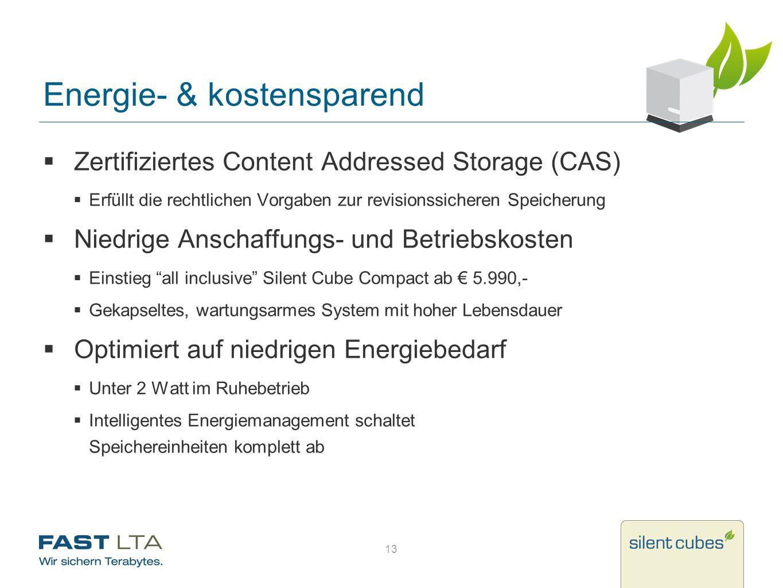 Energie- & kostensparend