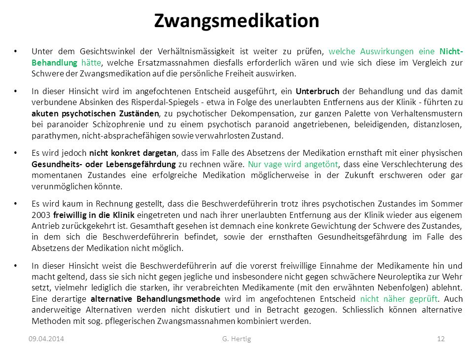 Zwangsmedikation