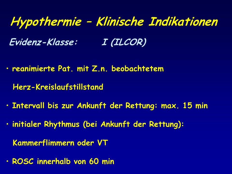 Hypothermie – Klinische Indikationen