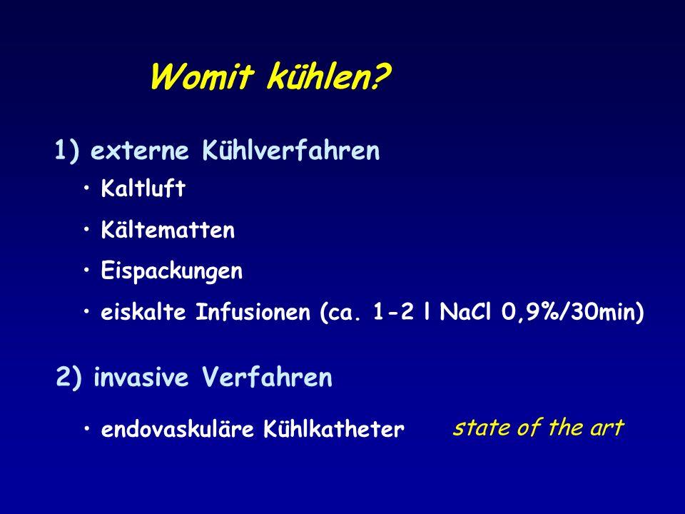 Womit kühlen externe Kühlverfahren 2) invasive Verfahren Kaltluft