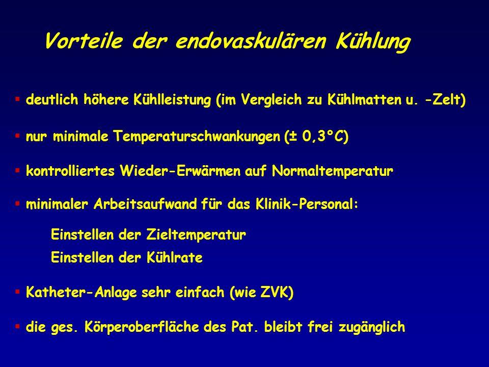 Vorteile der endovaskulären Kühlung